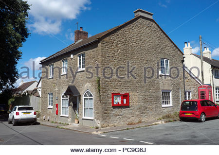 The Old Post Office (former Post office shop) - in the village of Chetnole in Dorset, UK. - Stock Image