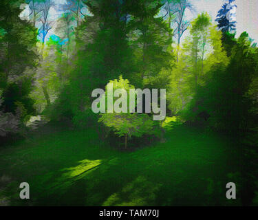 FINE ART: The Greens of Summer - Stock Image