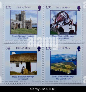 RS 8018  Stamps, Isle of Man, UK - Stock Image