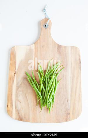Fresh vegetables, green beans - Stock Image