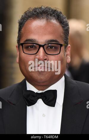 LONDON, UK. April 28, 2019: Krishnan Guru Murphy at the BAFTA Craft Awards 2019, The Brewery, London. Picture: Steve Vas/Featureflash - Stock Image