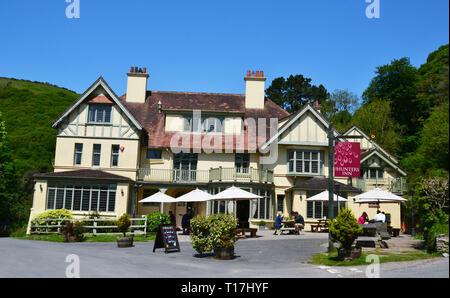 The Hunters Inn, Heddon Valley, Devon, UK - Stock Image