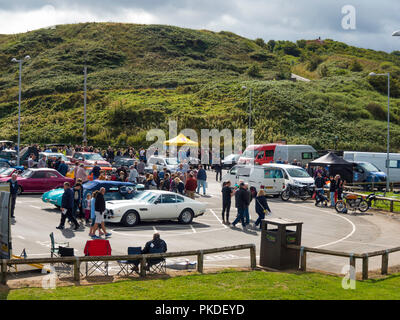 Middlesbrough and District Motor Club annual Historic Motor Gathering and Hill Climb at Saltburn September 2018 - Stock Image