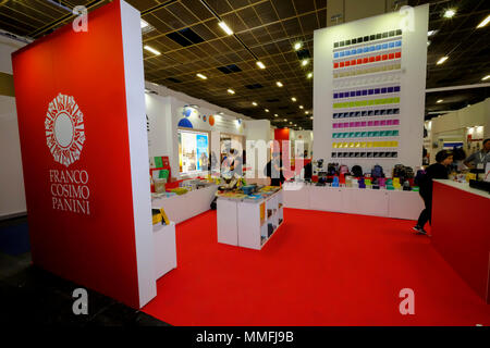 Turin, Piedmont, Italy, 10th May, 2018. International Book fair 2018,first day.Panini publisher's stand Credit: RENATO VALTERZA/Alamy Live News - Stock Image