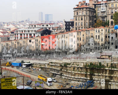 New development in Taksim area in Istanbul Turkey - Stock Image