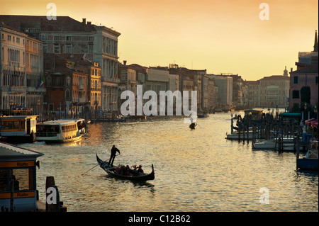 Grand Canal in the evening - Stock Image