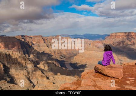 West Rim, Grand Canyon and Colorado River, UNESCO World Heritage Site, Arizona, United States of America, North America - Stock Image