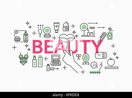 Infographic illustration related to BEAUTY - Stock Image