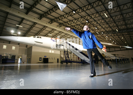 Duddingston Primary School visit the Museum of Flight at East Fortune in East Lothian - Stock Image