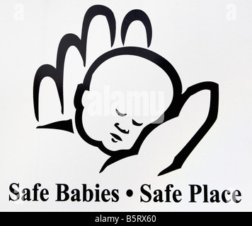 baby, infant, icon, hand, safety, place safe place, safe babies - Stock Image