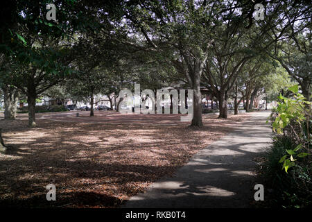 Seville Park in downtown Pensacola, Florida. - Stock Image