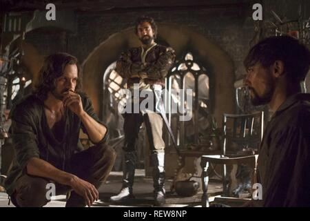 Tom Riley, Gregg Chillin & Blake Ritson Television: Da Vinci'S Demons : Season 3 (TV-Serie)  Character(s): Leonardo Da Vinci,  Zoroaster, Girolamo Riario  Usa 2013-2015, / 3. Staffel, Season 3 24 October 2015  SAP60131 Allstar Picture Library/BBC WORLDWIDE  **Warning**  This Photograph is for editorial use only and is the copyright of BBC WORLDWIDE  and/or the Photographer assigned by the TV or Production Company & can only be reproduced by publications in conjunction with the promotion of the above TV Programme. A Mandatory Credit To BBC WORLDWIDE is required. The Photographer should also be  - Stock Image