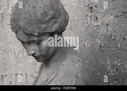 Those Left Behind - Graveyard Tomb Sculpture - Stock Image