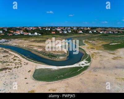 France, Hauts de France, Pas de Calais, aerial pic. Ambleteuse - Stock Image