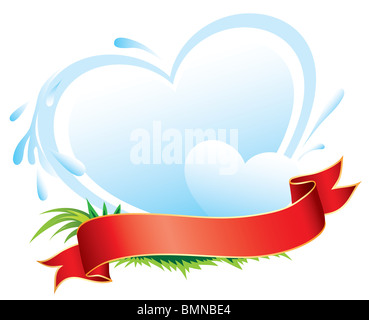 Dairy products label - Stock Image