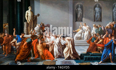 Vincenzo Camuccini, The Assassination of Julius Caesar, painting, c. 1804 - Stock Image