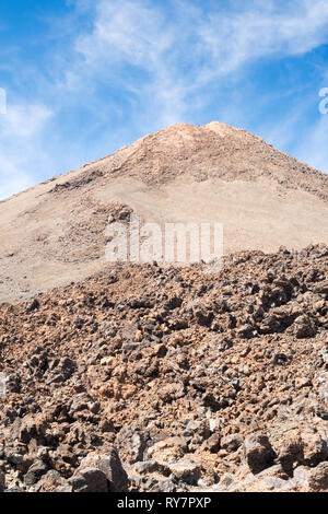 Dormant volcano, Mount Teide, in the Teide National Park, Tenerife, Canary Islands - Stock Image