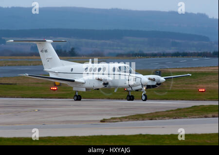US Army Beech C-12U Huron from 'F' Co, 6th Btn,52nd Avn Reg't based at Wiesbaden, Germany. visit to - Stock Image