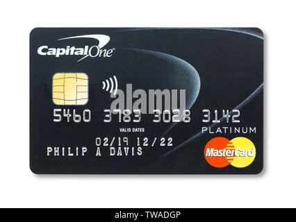 Capital one Mastercard credit card - Stock Image