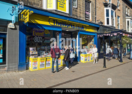 The Works discount book store Oxford Street Harrogate North Yorkshire England UK United Kingdom GB Great Britain - Stock Image