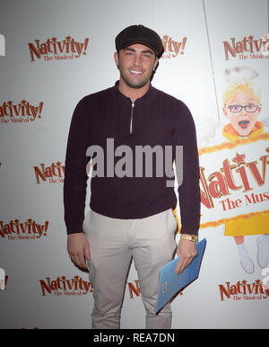 Celebrities attend 'Nativity! The Musical' Press Night held at the Hammersmith Apollo theatre  Featuring: Jack Fincham Where: London, United Kingdom When: 20 Dec 2018 Credit: WENN.com - Stock Image