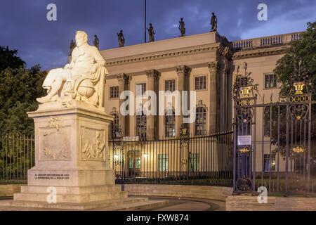 Humbold university, Berlin Mitte, Unter den Linden, Berlin - Stock Image