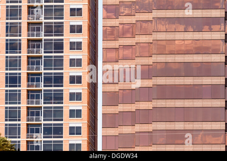 Apartment block and office block Austin Texas USA - Stock Image