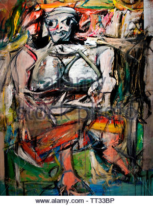 Willem de Kooning born 1904 Dutch American abstract expressionist artist. - Stock Image
