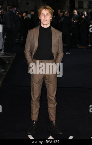 London, UK. 12th Mar, 2019. LONDON, UK. March 08, 2019: Louis Hofmann arriving for the premiere of 'The White Crow' at the Curzon Mayfair, London. Picture: Steve Vas/Featureflash Credit: Paul Smith/Alamy Live News - Stock Image