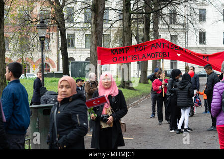 Stockholm, Sweden, 1th May, 2018. First May Demonstration in Stockholm. - Stock Image