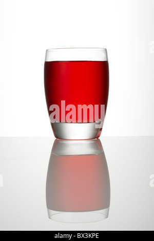 Cranberry Juice in Glass - Stock Image
