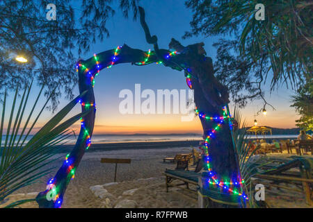 Long Beach, Ao Yai, sunset, Koh Phayam, Thailand - Stock Image