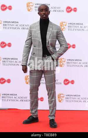 London, UK. 12th May, 2019. LONDON, UK. May 12, 2019: Roger Jean Nsengiyumva arriving for the BAFTA TV Awards 2019 at the Royal Festival Hall, London. Picture: Steve Vas/Featureflash Credit: Paul Smith/Alamy Live News - Stock Image