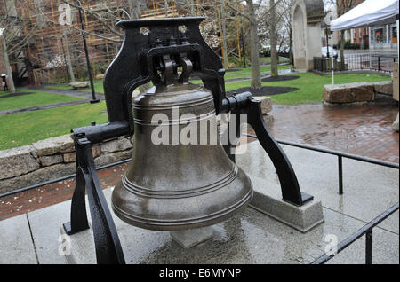 Bell cast in Boston by Paul Revere and Sons in 1801. Salem, Massachusetts. USA - Stock Image