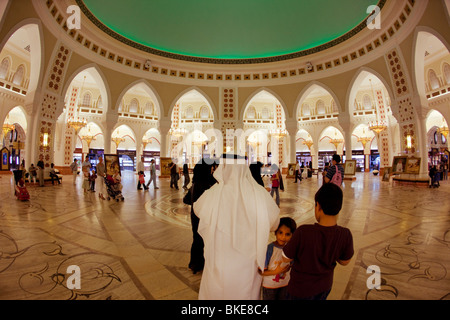 Arabian Court at Dubai Mall next to Burj Khalifa , biggest shopping mall in the world with more than 1200 shops, - Stock Image