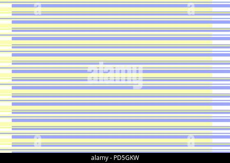 Background or texture of yellow and blue horizontal stripes - Stock Image