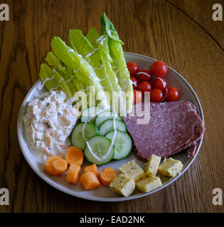 Mixed salad on a plate - Stock Image