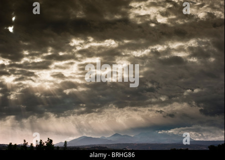 Dramatic clouds over Mt Ida (Psiloritis) - Stock Image