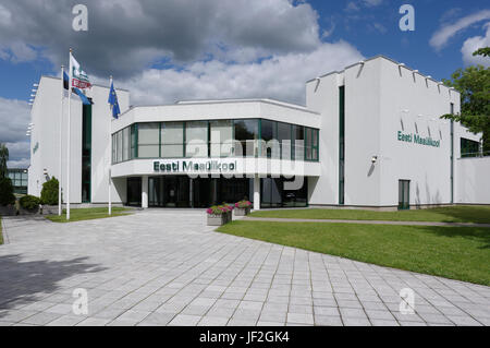 Main building of the Estonian University of Life Sciences. Tartu 28th June 2017 - Stock Image