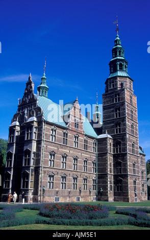 Rosenborg Castle Copenhagen Denmark Build by Christian the fourth - Stock Image