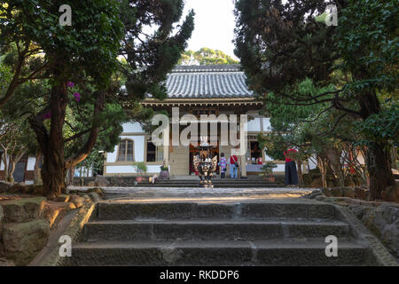 Puji Temple, a temple of the Shingon Buddhist sect in Beitou Distirict in northern Taipei, Taiwan, founded in 1905, during the Japanese era. - Stock Image