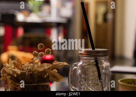 Empty Cocktail Jar - Stock Image