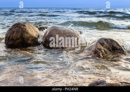 Stones in the sea - Stock Image