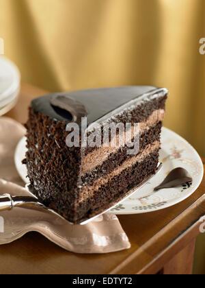 Chocolate Mousse Cake - Stock Image