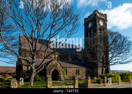 St Marks Church of England Marske by the Sea Cleveland North Yorkshire England UK in early spring - Stock Image