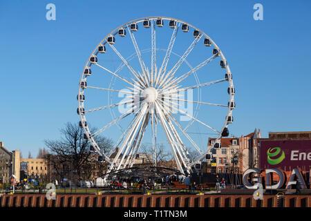 Panoramic Ferris wheel, Gdansk, Poland - Stock Image