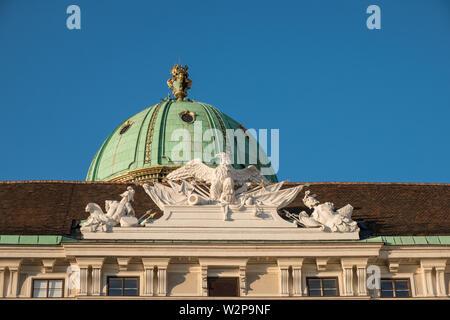 Michaelerkuppel (Michael Dome), Hofburg Imperial Palace, Vienna, Austria - Stock Image