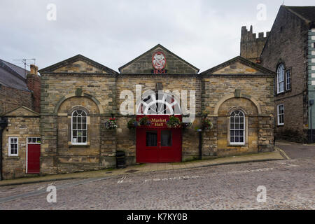 The grade II listed Market Hall in Market Place, Richmond, Yorkshire. - Stock Image