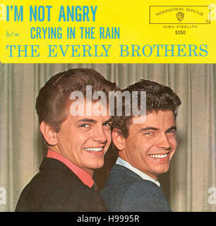 THE EVERLY BROTHERS 45 single picture sleeve for song 'I'm Not Angry' circa 1960s. - Stock Image