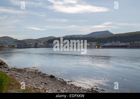 Picture of the northermost city in the world - Stock Image
